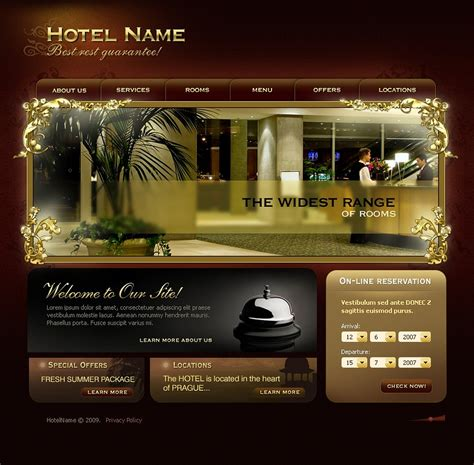 bootstrap templates for hotel management hotels flash template 22142