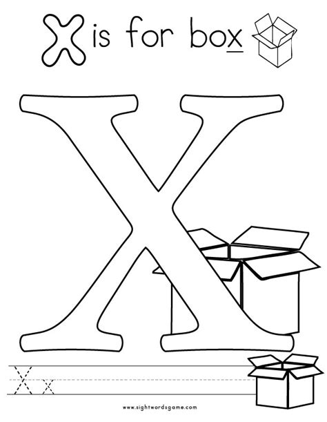preschool coloring pages letter x free coloring pages of hidden sight words