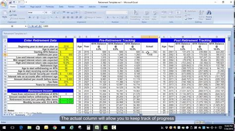 retirement excel template retirement planning calculator spreadsheet