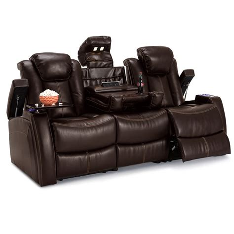 Motion Reclining Sofa Lane Omega Leather Gel Home Theater Seating Power Recline