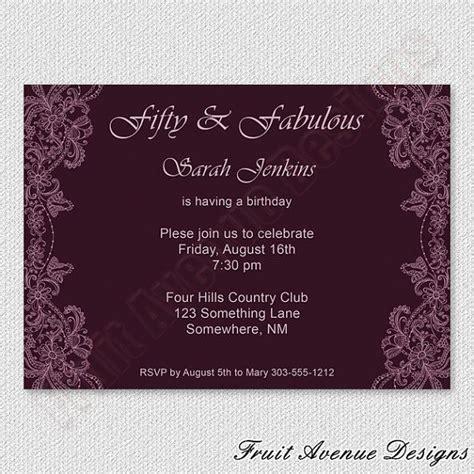 printable elegant birthday invitations elegant adult birthday party invitation printable
