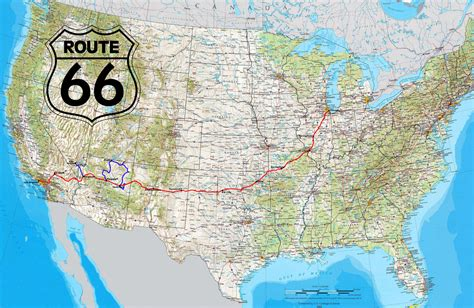 map of route 66 image gallery historic route 66 map