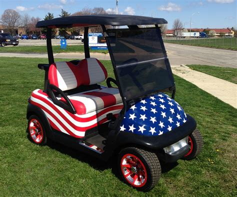 golf cart wrap template patriotic precedent club car golf carts