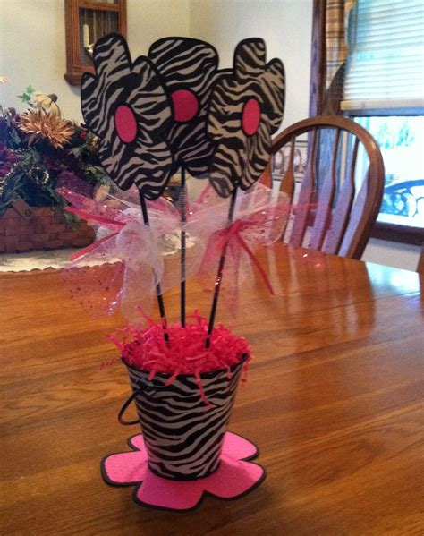 Pink And Zebra Baby Shower Ideas by Pink And Zebra Baby Shower Centerpieces S Baby