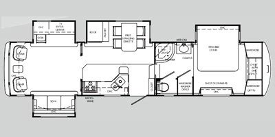 holiday rambler floor plans 2009 holiday rambler presidential suite fifth wheel series