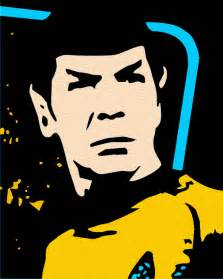 pop art portrait mr spock
