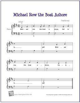 michael row the boat ashore partition gratuite 201 pingl 233 par tricia fling sur piano sheet music instant