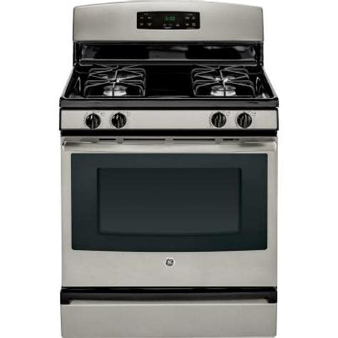 ge 4 8 cu ft gas range in silver jgbs60gefsa the home