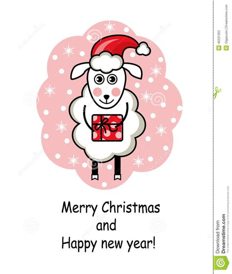 new year sheep gift sheep holding a gift