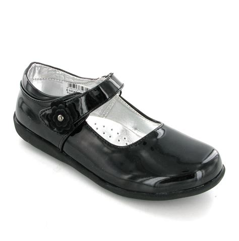 Size 6 Dress Shoes by New Black Boulevard Velcro Fasten Bar Patent School Dress Shoes Size 6 12 Ebay