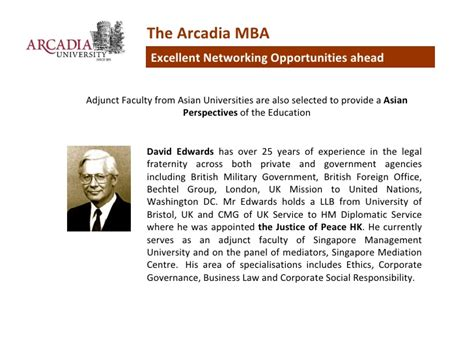 Mba Information Technology In Singapore by Top Ranked Us Mba From Arcadia Pennsylvania In