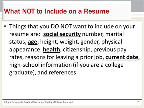 what not to include on a resume resume ideas