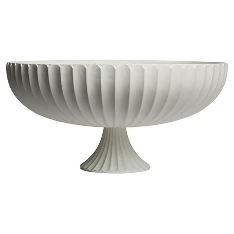 decorative bowls white kinsley modern classic white decorative ribbed deep footed