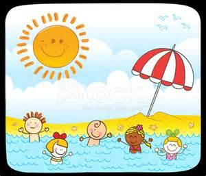schwimmbad diez happy summer kinder die schwimmen im meer