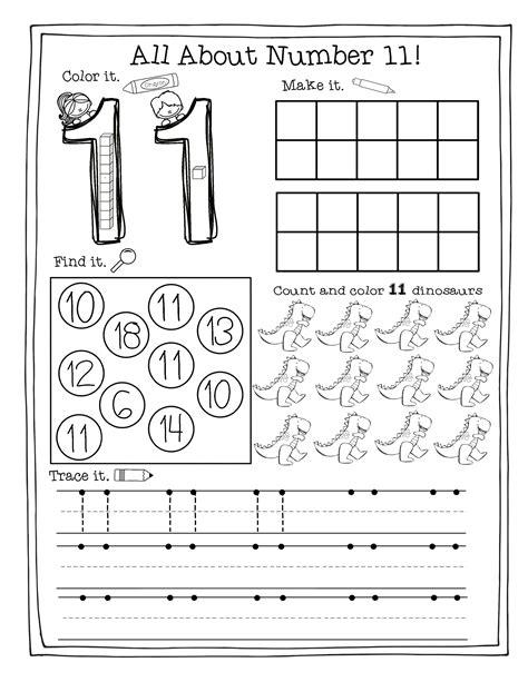 awesome number 11 worksheets for preschool fun worksheet