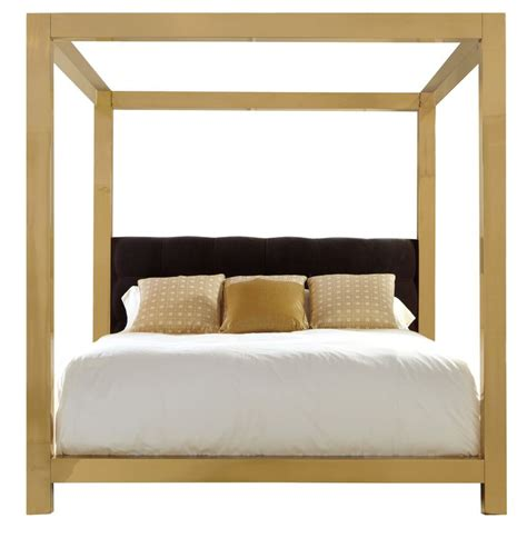 metal canopy bed bernhardt gold bed furniture