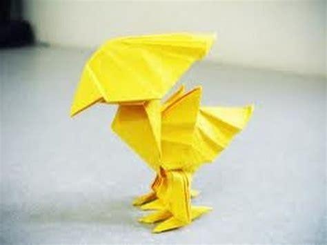 How To Make Paper Yellow - origami choboco yellow bird tutorial
