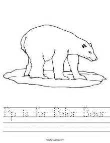 pp polar bear worksheet twisty noodle