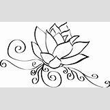 Lotus Flower Black And White Drawing | 800 x 473 jpeg 38kB