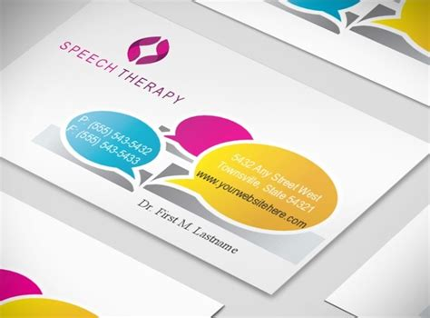 Therapy Business Card Templates by Speech Language Therapy Business Card Template
