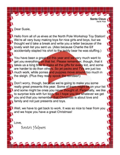 printable letters from santa s elves letter from elves