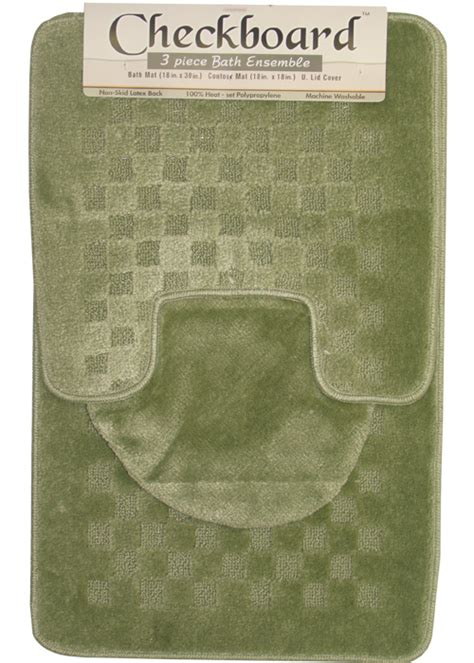 Bathroom Contour Rug Sets Contemporary Checkered 3 Bathroom Shower Ensemble Bath Contour Rug Set Ebay