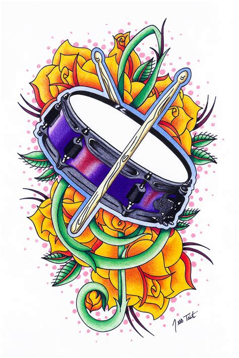 drums tattoo designs drum commission by gorejessghouls on deviantart
