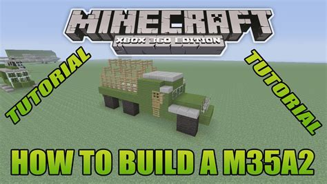 minecraft army truck minecraft xbox edition tutorial how to build a m35a2 youtube