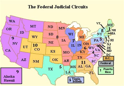 united states circuit courts map chapter 5 the dual court system college business