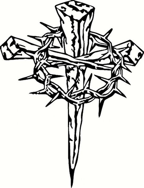 cross silhouette tattoo vinyl cross with crown of thorns silhouette christian