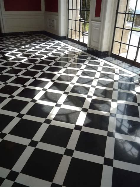 love this black and white art deco floor black and white
