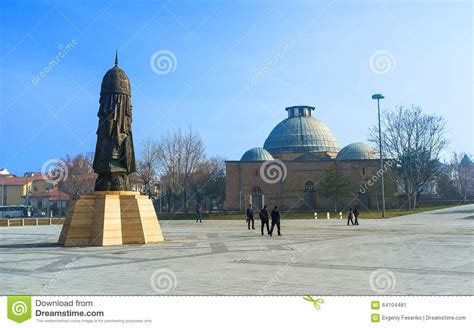 ottoman sultanate the modern monument in konya editorial photo image 64104481