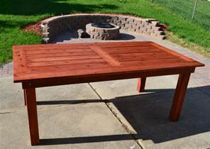 Table For Patio White Beautiful Cedar Patio Table Diy Projects