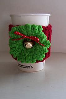 starbucks pattern library ravelry christmas crochet coffee cozy pattern by vicki