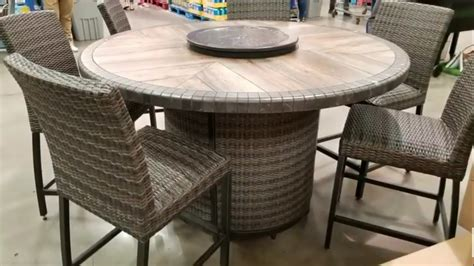 costco two chairs and table set costco agio 7 pc high dinning set with table 1299