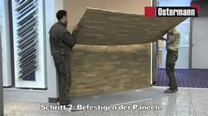 steinwand wohnzimmer untergrund ostermann gfk steinpaneele verarbeitungsvideo