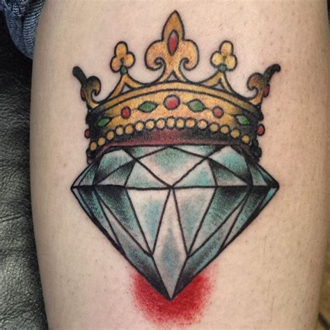 tattoo diamond crown 44 diamond tattoos designs and pictures collection