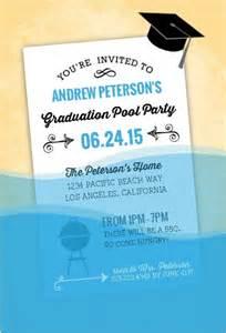 graduation pool ideas decorations invitations wording sles