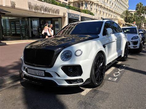 white bentley back mansory bentley bentayga spotted looking all black