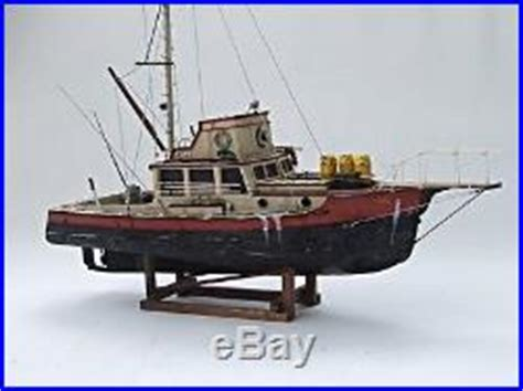 jaws orca boat remains jaws orca wooden model boat wood lobster fishing trawler