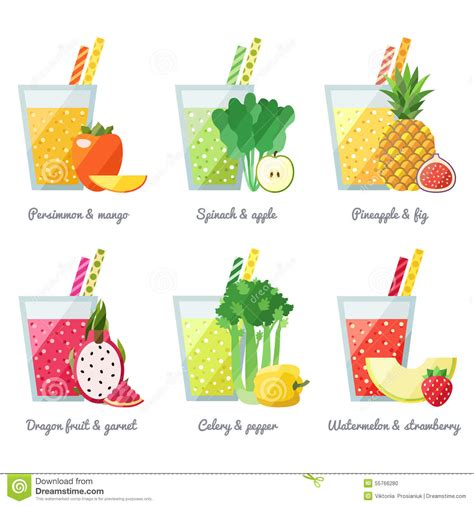 vegetables u can juice fruit and vegetable smoothie juice vector concept menu