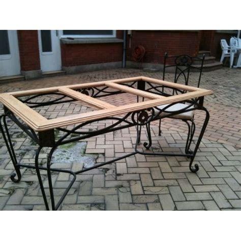 Table Bois Et Fer Forg 233 Wraste Com