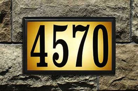 lighted house numbers it s all in the details house numbers bob s blogs
