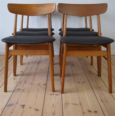 Beech Dining Room Furniture Teak And Beech Farstrup Dining Chairs Set Of Six 1960s For Sale At 1stdibs