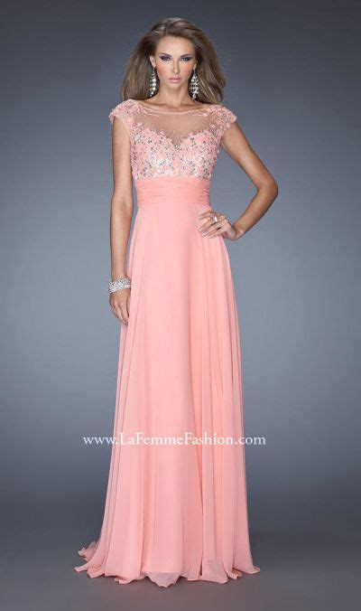 la femme 20650 illusion hi neck formal dress french novelty gigi 19859 by la femme high neck illusion formal dress