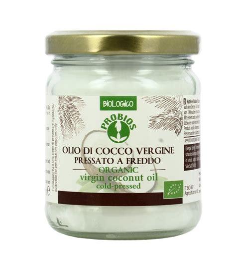 olio di cocco alimentare biologico olio di cocco vergine bio probios