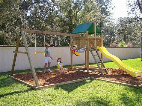 kids backyard play set spring is the perfect time to install a new backyard swing