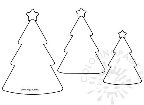 Tree Shapes Coloring Page Christmas Tree Shape Template Coloring Page by Tree Shapes Coloring Page