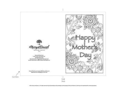free printable mothers day card templates printable s day cards
