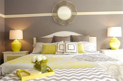 Grey And Yellow Modern Bedroom Best 12 Grey And Yellow Bedroom Design Ideas For Cozy And